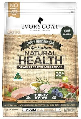IVORY COAT Grain Free Dry Dog Food Turkey & Duck 2kg