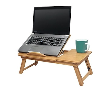 Boutique Medical Portable Foldable Deluxe Bamboo Laptop PC Table Bed Tray Read Workstation Dinner