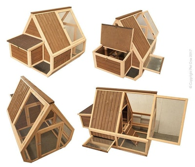 Chicken House Timber Single Story 55604 149cm x 96cm x 115cm Pet One