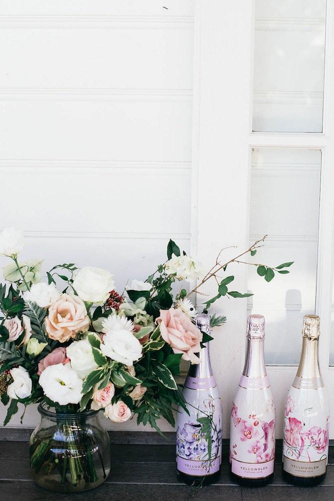 Yellowglen Wedding Champagne Flowers