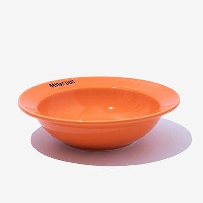 BRIDGE DOG Ceramic Pet Bowl Mini Dish - Orange
