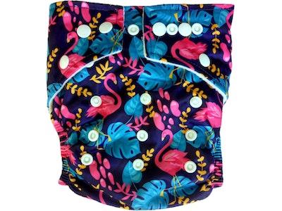 Hippybottomus Stay Dry Bamboo Cloth Nappy - Flamingo