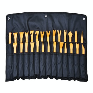 """PK Tools Trim, Clip & Scraper 27pc Set 180mm (7"""") Handy Carry Roll"""
