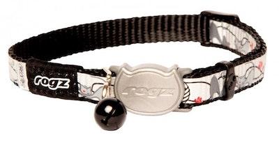 Rogz Collar Safeloc Reflectocat Black Cat