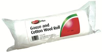 Value Plus VETERINARY GAUZE & COTTON WOOL ROLL 30cm X 1.8m