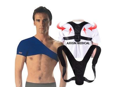 Boutique Medical Shoulder Support Brace + Medical Posture Back Support Brace Corrector Strap