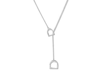 Breeze Double Stirrup Necklace