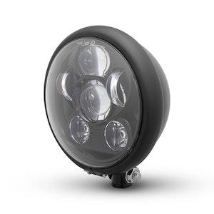 Bates Style Six Projector LED Headlight - Matte Black