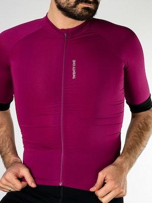 Twenty One Cycling Factory Midweight jersey - Purple - Men
