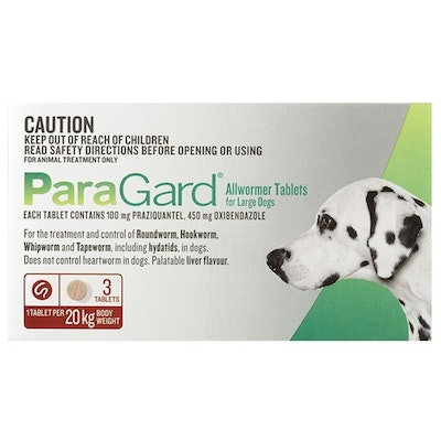 Paragard Large Dogs Allwormer Treatment & Control Tablets - 2 Sizes