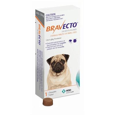 BRAVECTO Chew 4.5-10kg Dog 3 Month Pack