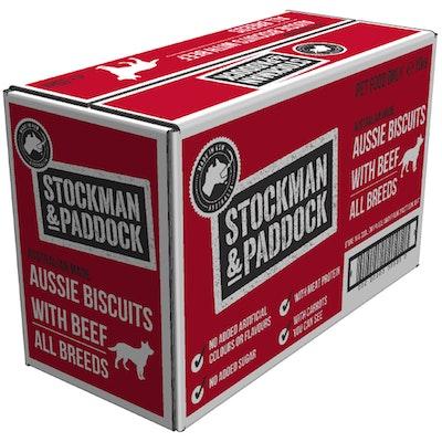 STOCKMAN & PADDOCK Aussie Biscuits Beef All Breeds Dog 10kg - No Sugar