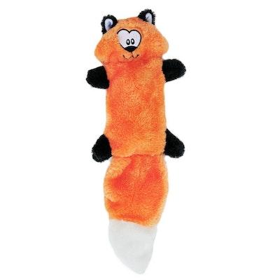 Zippy Paws ZippyPaws - Zingy No Stuffing Durable Squeaky Plush Dog Toy - FOX
