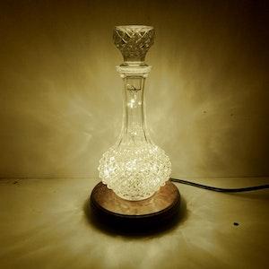 Vintage Crystal Decanter Lamp