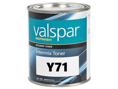 Valspar Refinish Y71 L.F. Lemon Yellow 1Qt