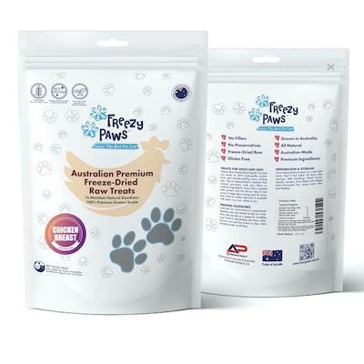 Freezy Paws Freeze-Dried Chicken Breast Raw Treats 100g