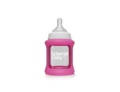 Colour Change Glass Bottles Wide Neck 150ml Single Pack - Pink