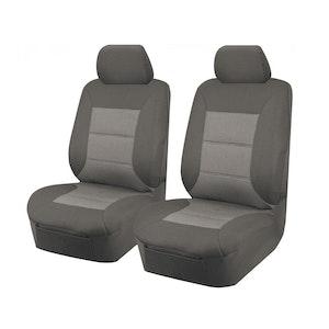 Premium Car Seat Covers For Toyota Landcruiser Vdj70 Series 2007-2020 Troopcarrier 4X4 Wagon Single/Dual Cab   Grey