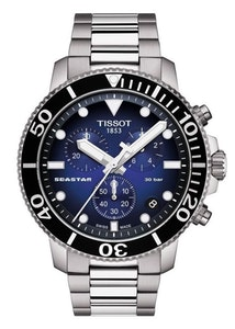 Tissot Seastar 1000 Chronograph - Black with Blue Bezel