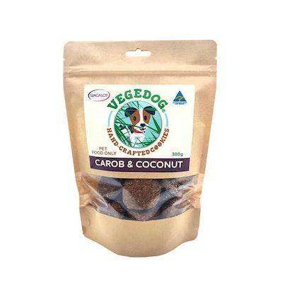 Vege Dog Cookies Coconut & Carob Dog Treats 300g