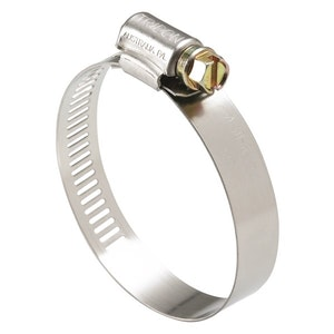 Part Stainless Steel Perforated Hose Clamp Pack 267mm - 318mm 10pc