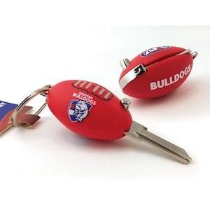 Creative Keys AFL Footy Flip Key Blank with Keyring LW4 - Western Bulldogs