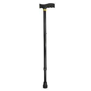 Safe Home Care Adjustable Walking Stick Black