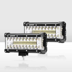 2x 7inch CREE LED Light Bar Side Shooter