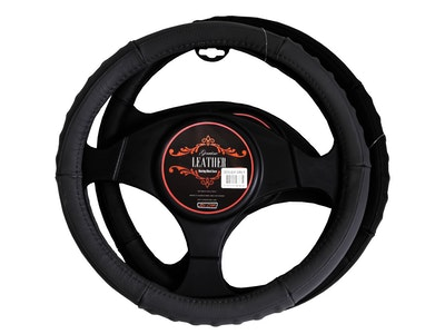 Denver Steering Wheel Cover - Black [Leather]