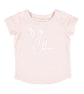 Personalised Easter Name Tee - Pale Pink