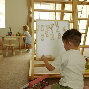 Riababy Toys 2-in-1 Double Sided Magnetic Drawing Board