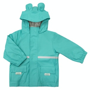 Silly Billyz Large Bear Hood Aqua Waterproof Jacket