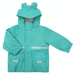 Silly Billyz Medium Bear Hood Aqua Waterproof Jacket