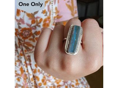 Mintabie River Opal Ring