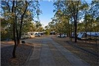 Laid  back Sapphire Caravan Park offers peaceful Kui camping with a gem field sparkle in the  mix