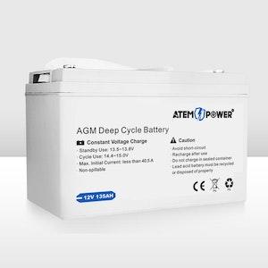 135AH 12V AGM Battery AMP Lead Acid SLA Deep Cycle Battery Dual Solar Power