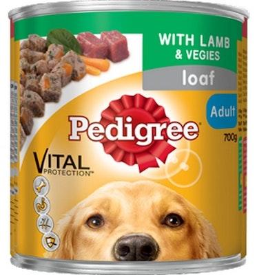 Pedigree Vital Adult Dog Food Lamb & Vegies Loaf 700g x 12