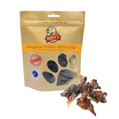 Bugsy's Pet Supplies HEALTHY SNACKS   Dehydrated Kangaroo Tendon Knee Cartilage