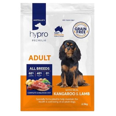 Hypro Premium Adult All Breeds Dry Dog Food Kangaroo & Lamb - 3 Sizes