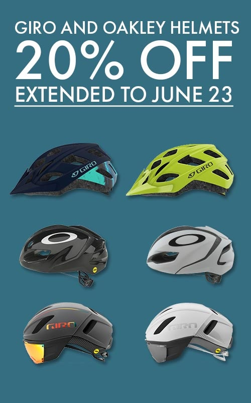 Helmet Sale 20% off till June 16 Tri Bike Run