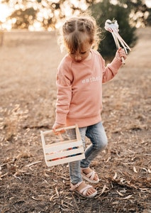 Personalised Name Sweater Dusty Pink - Plain Font