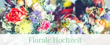 Florale Hochzeit mit Blumen