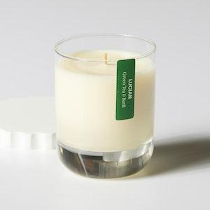 Green Tea & Basil Glass Candle