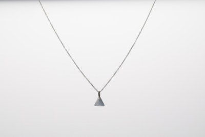 I Dream of Silver Silver Triangular Pendant Necklace