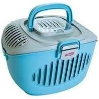 Living World Paws 2 Go Cat/Small Pet Carrier Blue/Grey