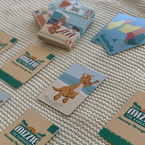 Mizzie the Kangaroo Mizzie Memory Match 4-In-1 Flash Card Game Set