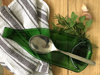 Upcycled Pellegrino water bottle | Multifunctional dish, spoon rest