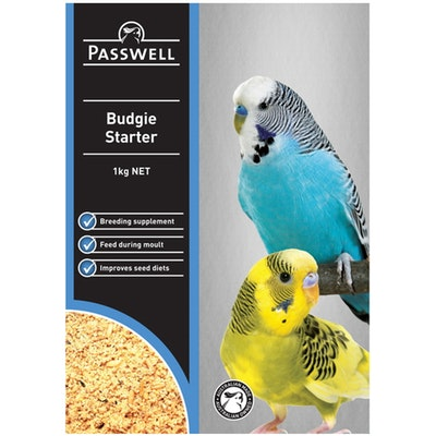 PASSWELL Budgie Balanced Nutrition Starter Food Supplement - 4 Sizes