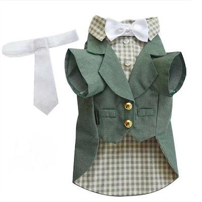 DoggyDolly SMALL DOG - Olive Green Doggy Suit Jacket