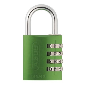 ABUS 145/40 4 Digit Resettable Combination Padlock-Green